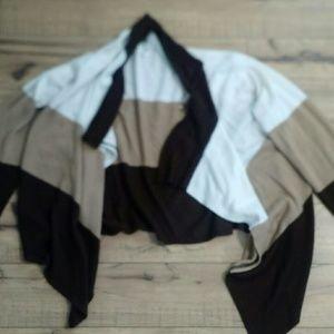 Color block brown cardigan!